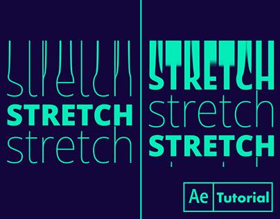 kinetic typography stretch warp