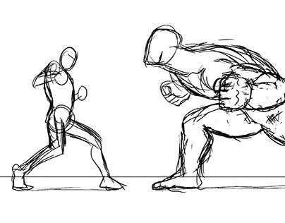 Thesis: Comic Book Fights Through Storyboarding on Behance