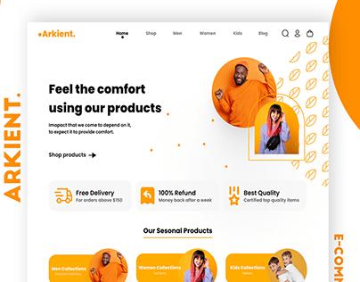 Arkient e-Commerce Landing Page Design
