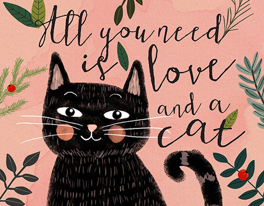 Download All you need is love and a cat on Behance