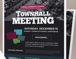 Town Hall Meeting Flyer Templates on Behance