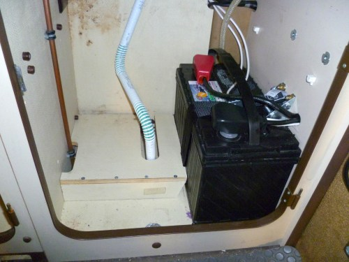 small resolution of battery mounted under sink