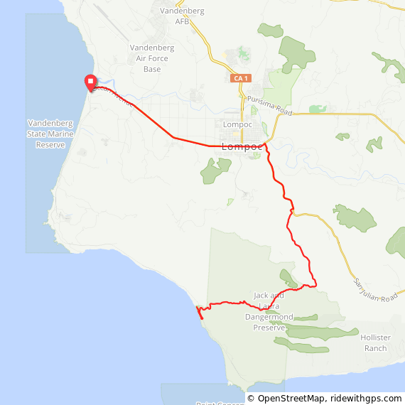 Cycling Jalama Beach Route