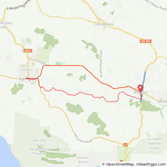 Cycling Santa Rosa Road Route
