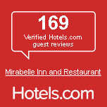 169 Verified Hotels.com guest reviews Mirabelle Inn and Restaurant