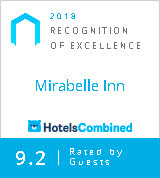 2019 Recognition of Excellence Mirabelle Inn HotelsCombined 9.2 Rated
