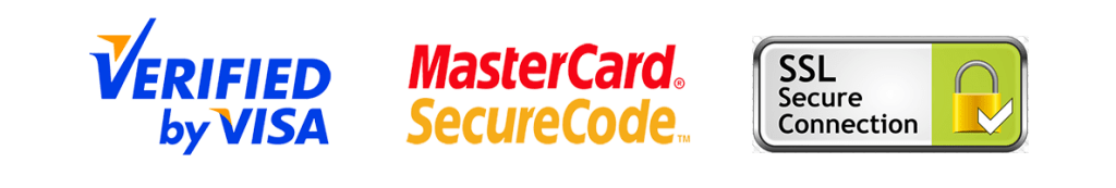 Visa Verified, MasterCard Payment and SSL secured connection