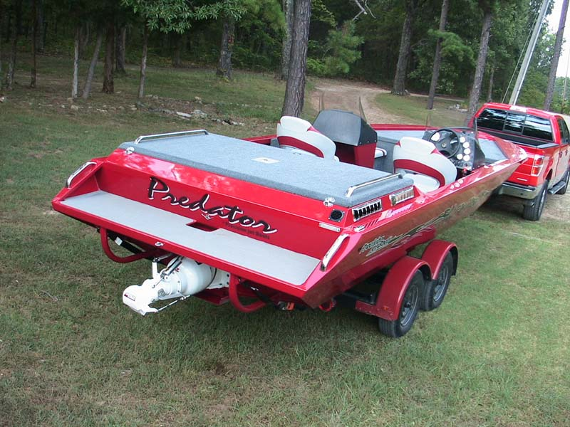 predator boat on trailer