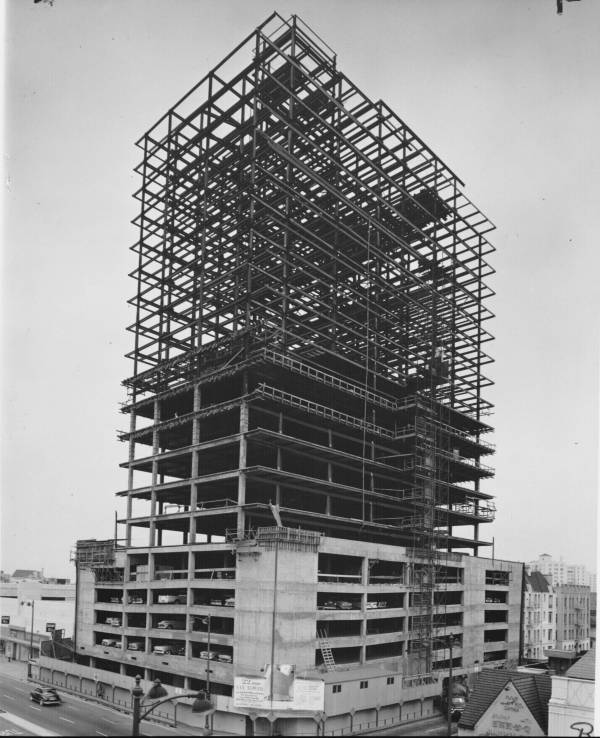 Lee Tower Under Construction 1960 Miracle Mile
