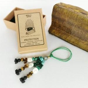 amulette_protection_labradorite_oeil_de_tigre_tourmaline_noire_turquoise_malachite_oeil_de_sainte_lucie_onyx_noir
