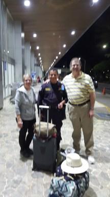 Being welcomed to El Salvador