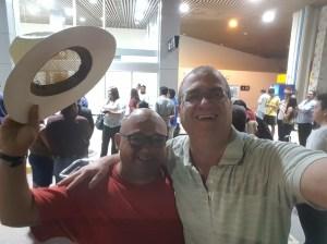 Francisco welcoming us to El Salvador
