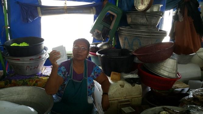 We gave Good News tracts to a precious lady on the pier in La Libertad El Salvador