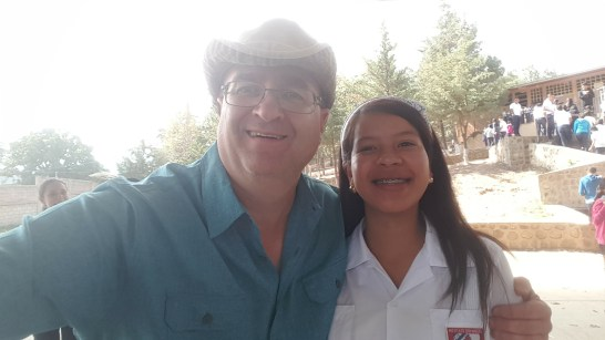 A couple kids haning out in Honduras school during an evangilism outing.