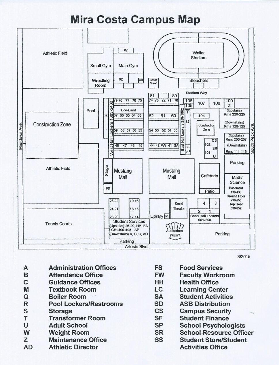 Mira Costa College Map : costa, college, Costa, School