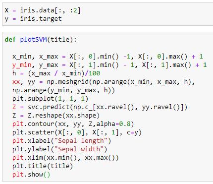 microsoft power bi python classification analyze support vector machine statistic svm example 10