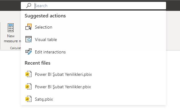 microsoft power bi february features update all new header search bar