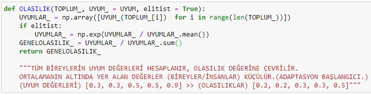 python genetik algoritmalar kütüphaneler adaptasyon