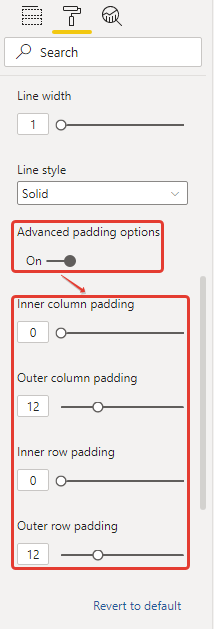 power bi microsoft small multiples column chart grid padding advanced