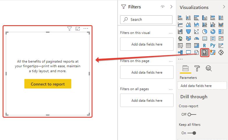 power bi report builder desktop visual