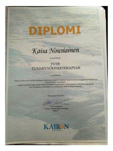 Diplomivyöhyketerapeutti, tunnevyöhyketerapeutti, Kaisa Nousiainen, Helsinki