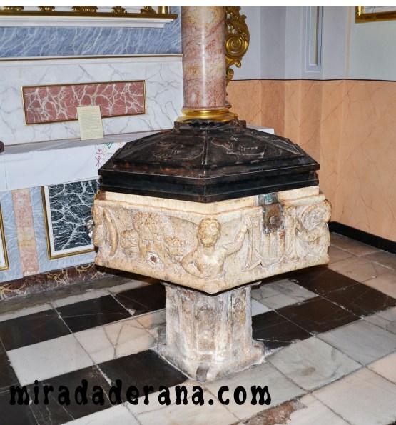 pila bautismal del S XV en Bocairent