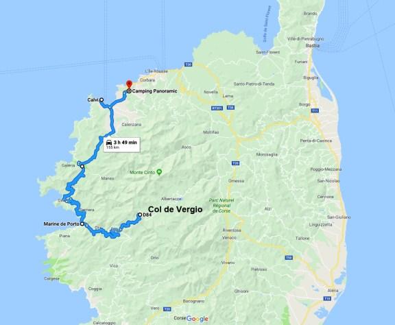 van trip o viaje en furgoneta por Córcega.