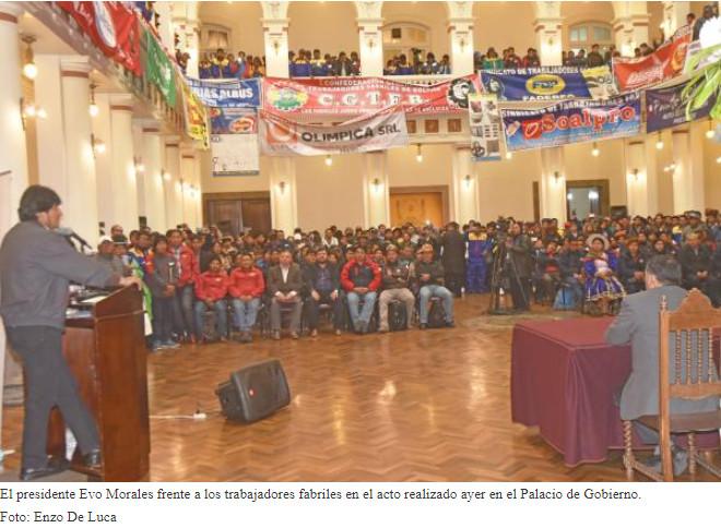 Fabriles tendrán escuela sindical y un tecnológico