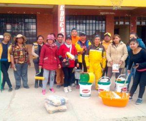 Voluntarios mejoraron infraestructura educativa