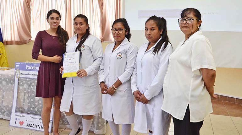 Estudiantes ganan concurso con proyectos ambientales