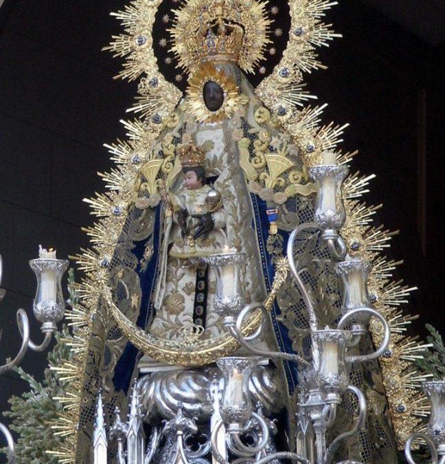 NUEVO ROSTRILLO EN ORO Y PIEDRAS PRECIOSAS PARA LA VIRGEN DE REGLA DE CHIPIONA, DISEÑADO POR NUESTRO ASESOR ARTÍSTICO, DON LUIS BECERRA