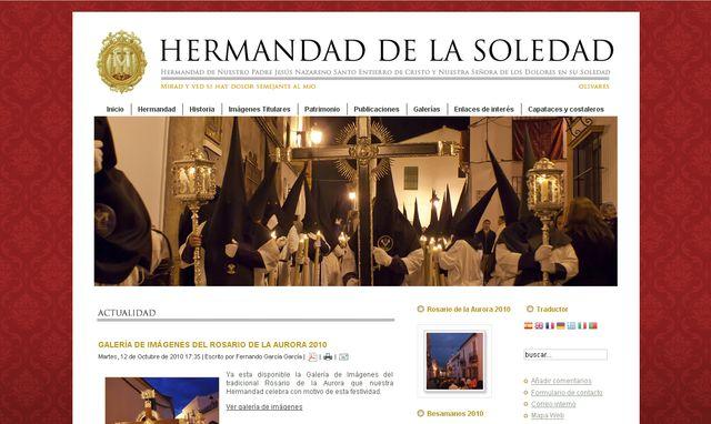REMODELACIÓN DE LOS CONTENIDOS DE LA PÁGINA WEB DE LA HERMANDAD