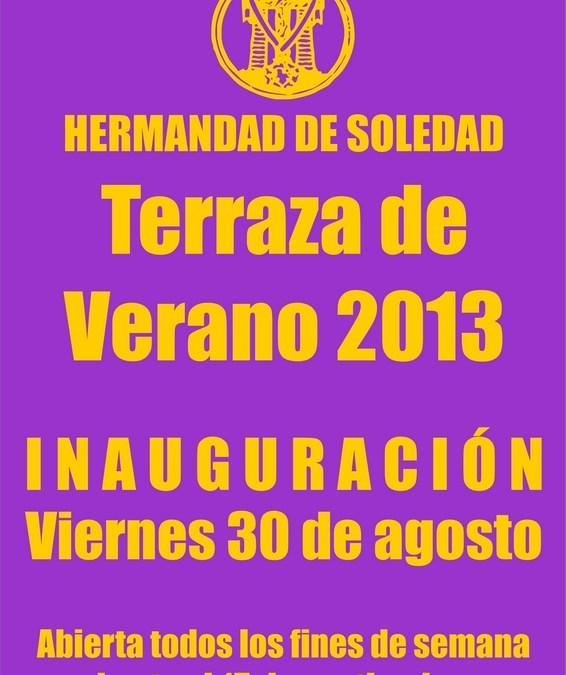 INAUGURACIÓN DE LA TERRAZA DE VERANO 2013
