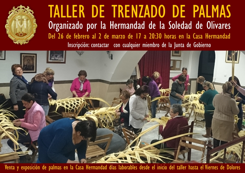 TALLER DE TRENZADO DE PALMAS 2018