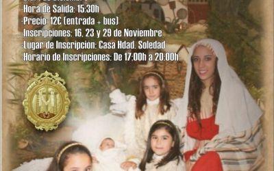 LA HERMANDAD DE LA SOLEDAD DE OLIVARES ORGANIZA UNA VISITA AL BELÉN VIVIENTE DE BEAS, HUELVA