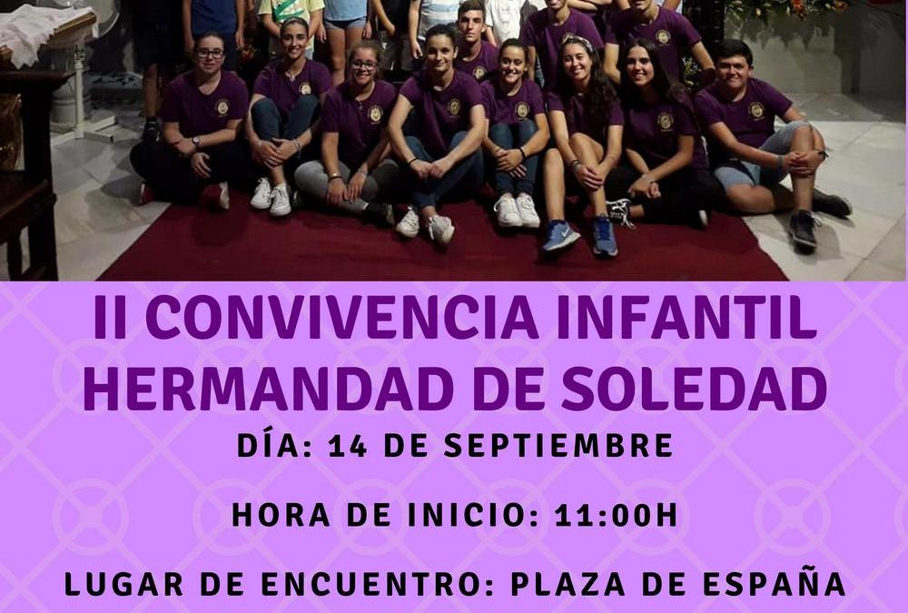 II CONVIVENCIA INFANTIL HERMANDAD DE SOLEDAD DE OLIVARES