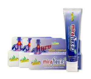 MiraFlex Pain Relief Cream Value Pack Display