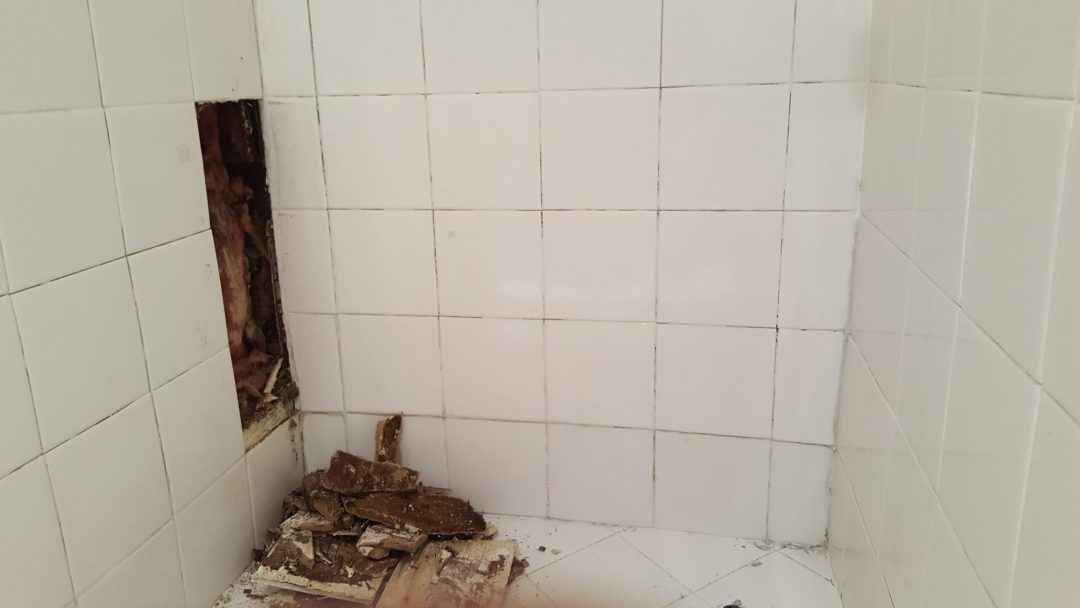 Shower stall repair