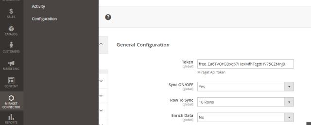 MiragetConnector Magento plugin