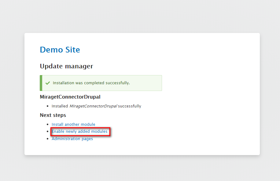 How to Install MiragetConnector for Drupal | Miraget
