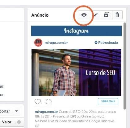 Como visualizar o anúncio do Instagram