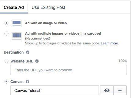 selecionar facebook canvas