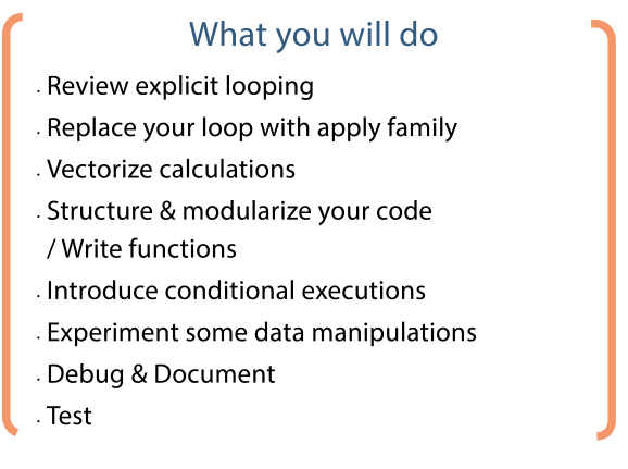 Think like a programmeR course content