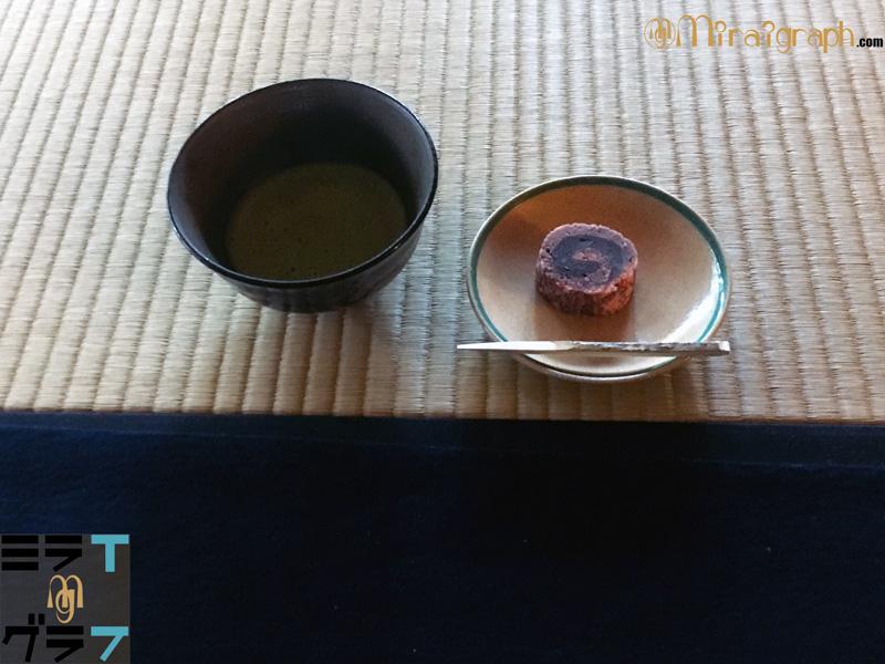 有楽苑の抹茶とお茶菓子