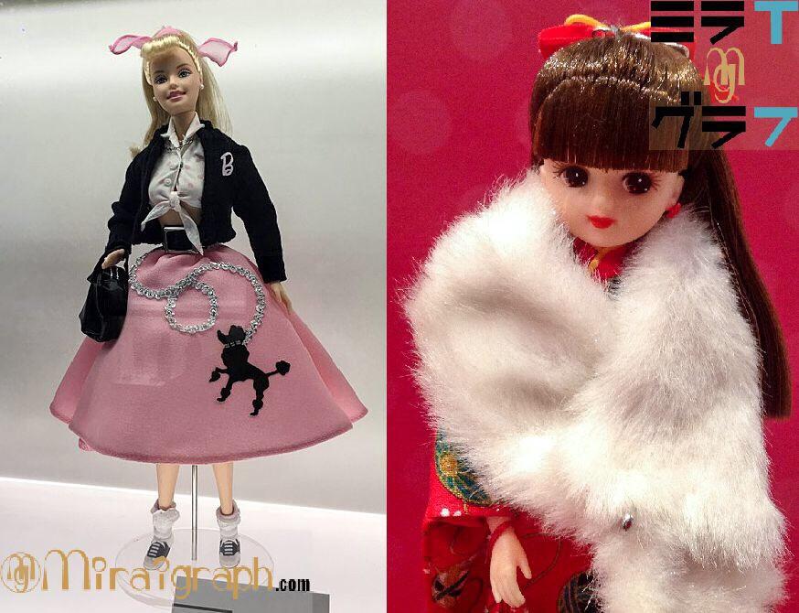 バービー人形とリカちゃん人形