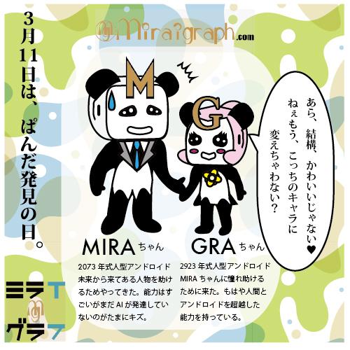 3月11日はパンダ発見の日ミラちゃんグラちゃん