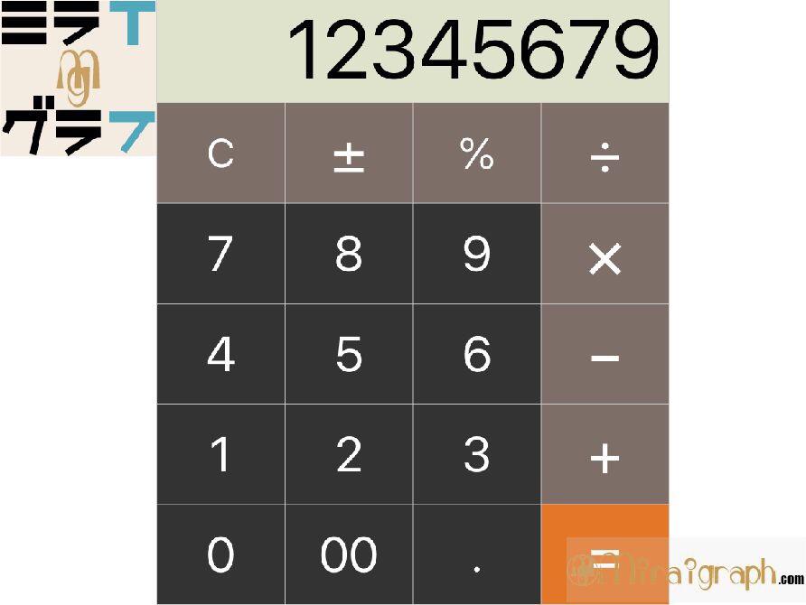 好きな一桁の数字を当てる計算トリック