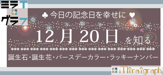 12月20日の誕生石誕生花バースデーカラーラッキーナンバー