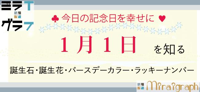 1月1日の誕生石誕生花バースデーカラーラッキーナンバー
