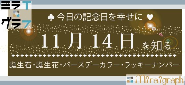 11月14日の誕生石誕生花バースデーカラーラッキーナンバー
